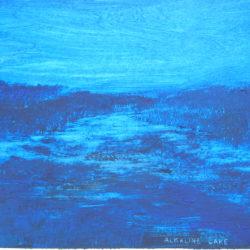 Alkaline Lake, Olieverf, 30x40, Verkocht