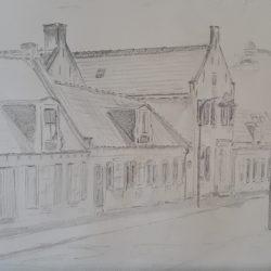 't Jagershuis, 40x50, potlood, Collectie VanVer